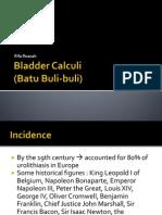 Bladder & Urethral Calculi