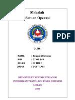 Tugas Satuan Operasi II 'Makalah Destilasi