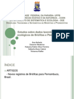 Slides - Briofitas e Pteridofitas