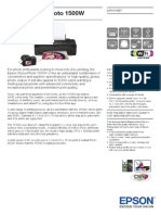 Epson Stylus Photo 1500W Brochures 1