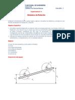 EXPERIMENTO 4 Fisica I Dinamica de Rotación
