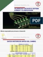 Mejoras Metalurgicas Con Nuevos Sistemas de Molienda y Clasificacion