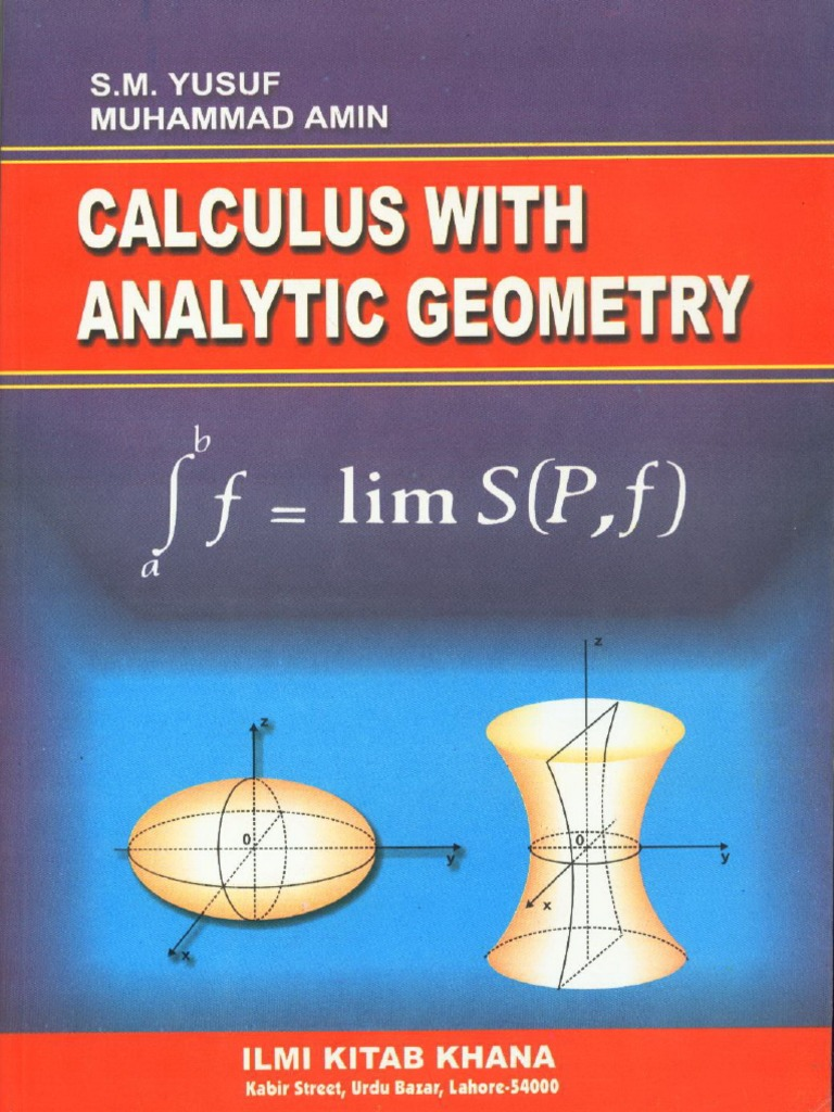 Calculus with analytical geometry by sm yousaf fandeluxe Gallery