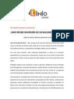 NP - LINIO RECIBE INVERSIÓN DE 58 MILLONES DE EUROS