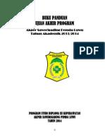 BUKU PANDUAN Magang Akper 2014-2