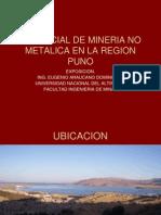 Potencial No Metalico de La Region Puno