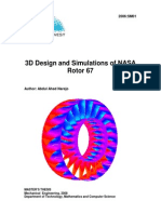 3D Design and Simulations of NASA Rotor 67 MSC Thesis