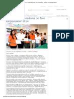 07-09-2014 'Premia UTT a Ganadores Del Foro Emprendedor 2014'