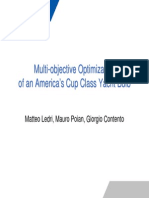 Multi -Objective Optimization of an America's Cup Class Yacht Bulb