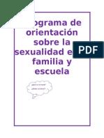 Programa de Orientación Sobre La Sexualidad en La Familia y Escuela