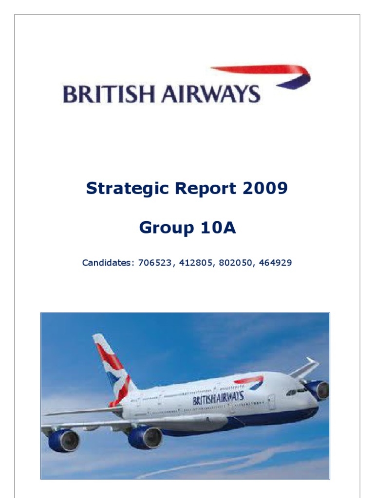 british airways operational environment International marketing of british airways name of  the external and industry environment of british airways  in order to remain operational and.