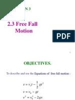 Free Fall Motion
