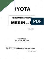 Toyota Pedoman Reparasi Mesin Seri K Februari 1981