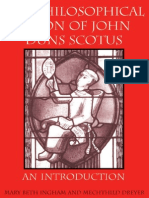 Mary Beth Ingham the Philosophical Vision of John Duns Scotus an Introduction 2004