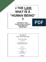 Def Human BeingA Handout