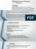 Diseño de Sistemas, Procesos, Parámetros y