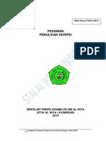 Panduan Skripsi STAI Al Ihya 2014