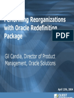 OracleRedefinition SpcMgmt Final Reorg