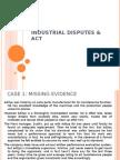 Industrial Disputes & Act
