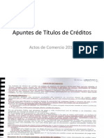 Apuntes de Títulos de Créditos