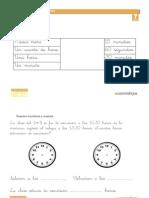 Fichas Medida Problemas Reloj