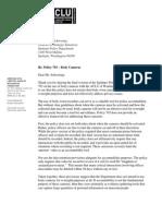 ACLU July 3 letter to Spokane Police