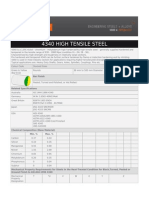 4340 High Tensile Steel
