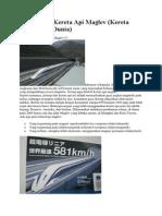 Cara Kerja Kereta API Maglev
