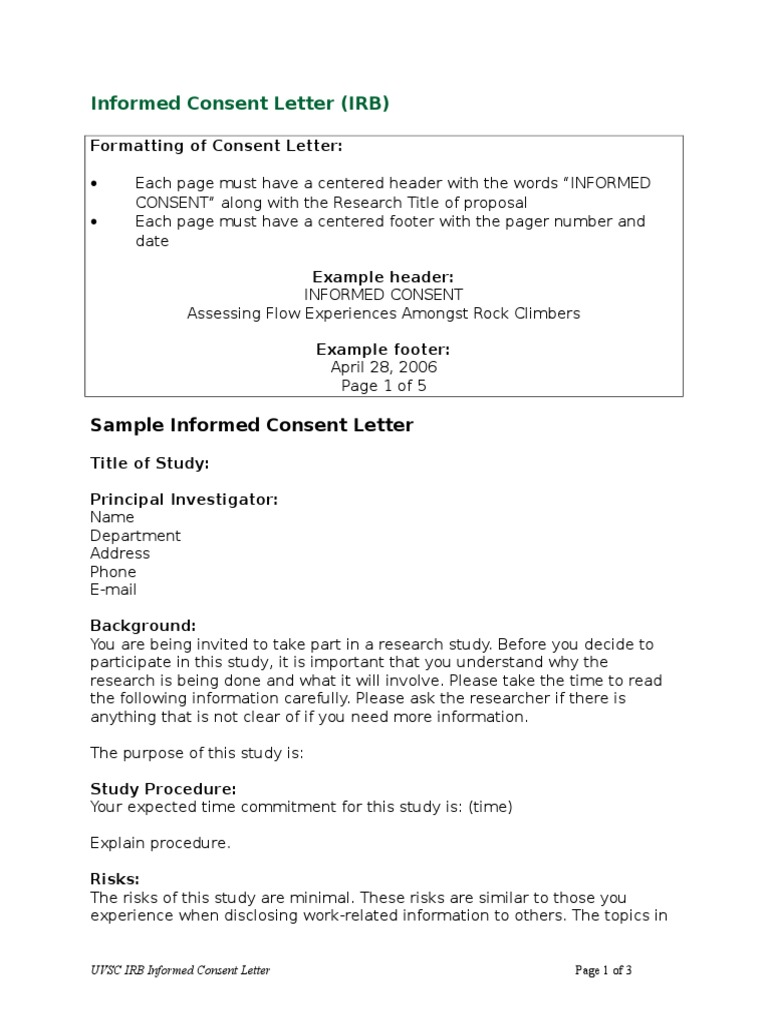 How to write a consent letter for research images letter format irb informed consent template choice image template design ideas how to write a consent letter for spiritdancerdesigns Image collections