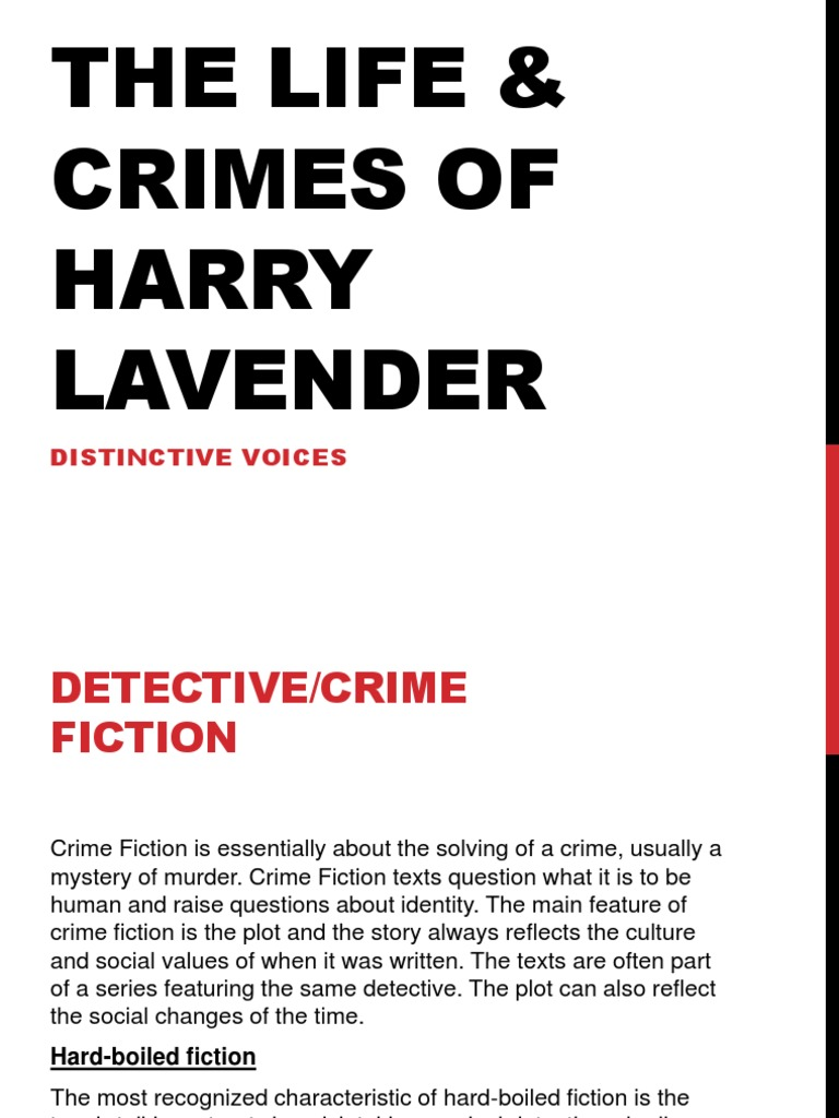 Distinctive voice essay on harry lavender