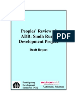 People's Review of ADB,Sindh Rural Development Project Draft