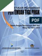 Buku Petunjuk Pelaksanaan Pertemuan Tiga Pihak 2015