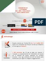 Baromètre de l'Économie BVA - Axys - BFM - Challenges (Vague 67) Juillet 2014