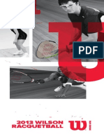 2013 Wilson Racquetball Catalog