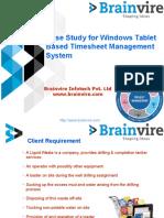 Case Study for Windows Tablet Based Timesheet Management System