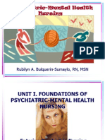Lesson 1 - Introduction to Psychiatric Mental Health