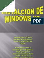 Instalcion de Windows Xp