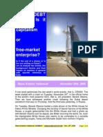 Dubai Debt Crisis-Is it Casino Capitalism or free enterprise-VRK100-29112009