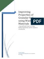 Improving Properties of Granular Soil Using Waste Materials