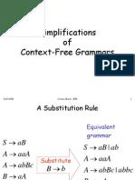 Context Free Grammars Normal