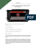 Comprar Un DVD Coche Con Bluetooth GPS TV Radio Para 2009-2012 Skoda Fabia