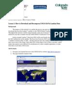 How to Download on GloVis.usgs.Gov