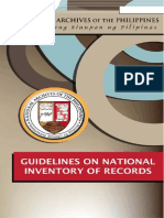 NAP Circular 4 [Guidelines on National Inventory of Records]