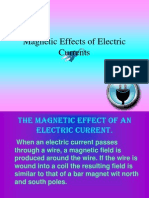 Magnetic Effects of Electric Currents