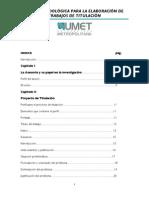 Guia Metodologica Para La Elaboracion de Trabajos de Titulacion