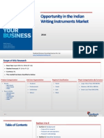 Opportunity in the Indian Writing Instruments Market_Feedback OTS_2014