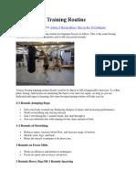 Basic Boxing Training Routine