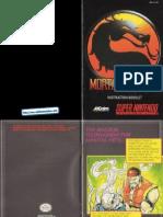 Mortal Kombat Manual SNES