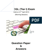 SSC CGL Tier I Question Paper - 333PJ3