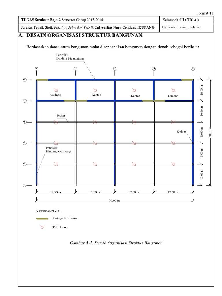 Desain Hanggar Pesawat Struktur Baja